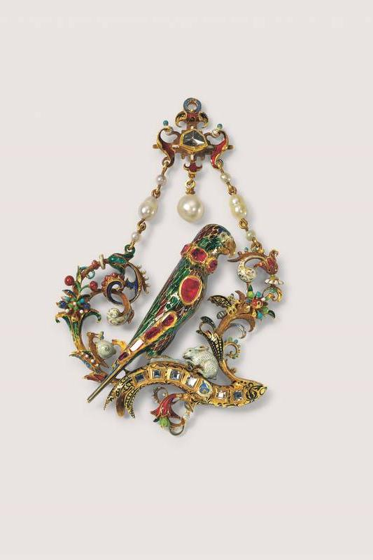 Parrot pendant, Southern Germany, about 1560-70, donation of the Werner Wild Foundation, photo Günter Meyer