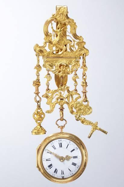 Pocket watch with outer case and chatelaine, George Graham, London, about 1730, Philipp Weber pocket watch collection, on permanent loan from the Sparkasse Pforzheim Calw Art Foundation, photo Rüdiger Flöter