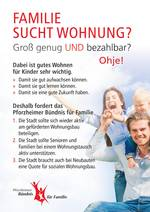 Flyer Wohnzimmeraktion Bündnis für Familie