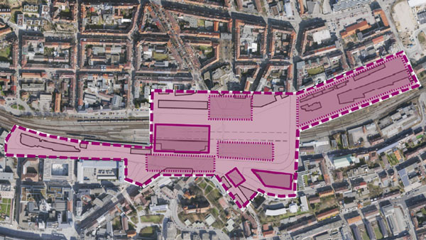 Simulation Hauptbahnhof und Umgebung