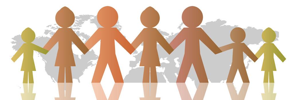 Symbolbild: Menschen verschiedener Nationen halten sich an Händen