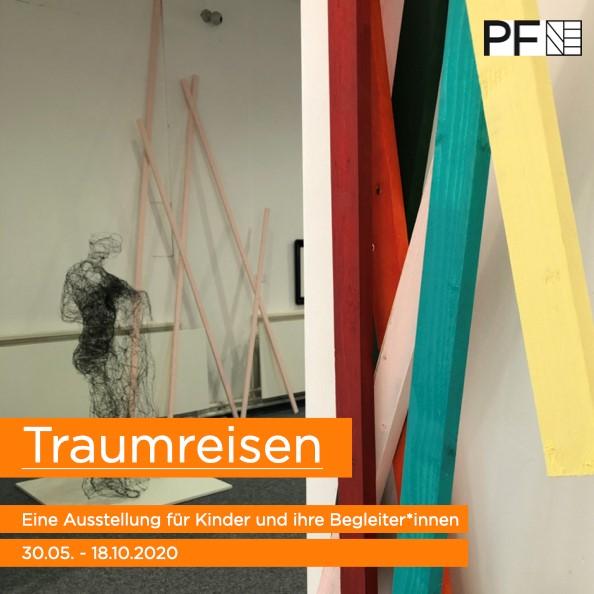 Traumreisen Ausstellung in der Pforzheim Galerie, Ausstellungsplakat