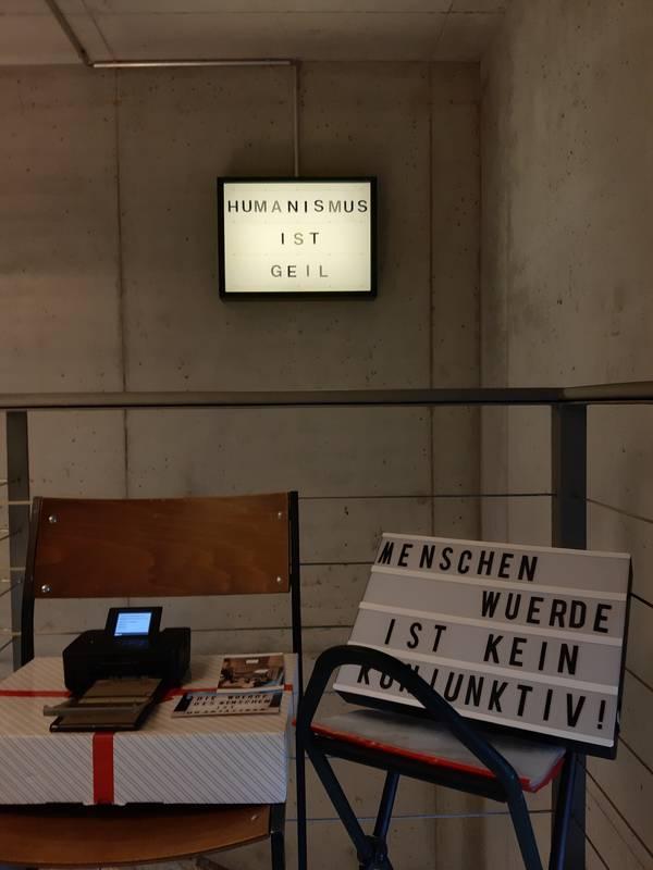 Bild: Projektimpressionen aus dem Museum Johannes Reuchlin