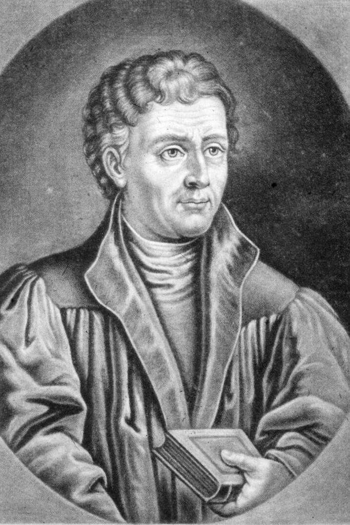 Dieses Bild zeigt eine Portraitzeichnung von Johannes Reuchlin.