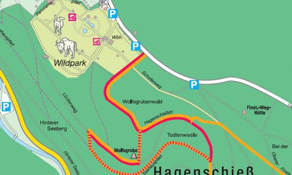 Bild: Karte Naturpfad Hagenschieß