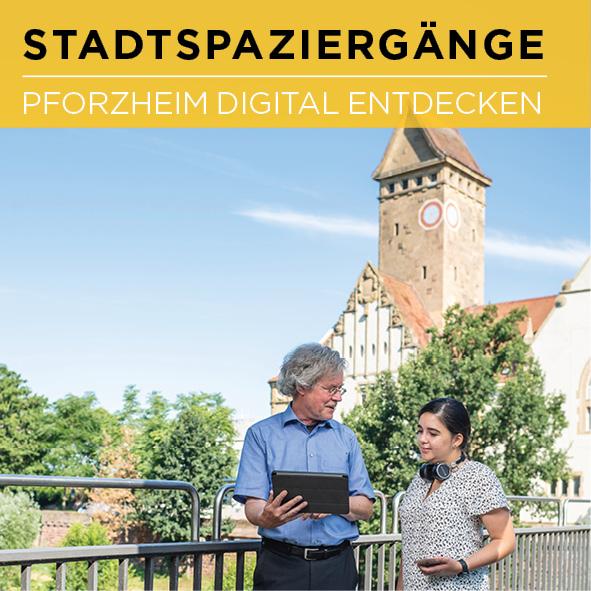 Digitale Stadtspaziergänge Flyer Cover