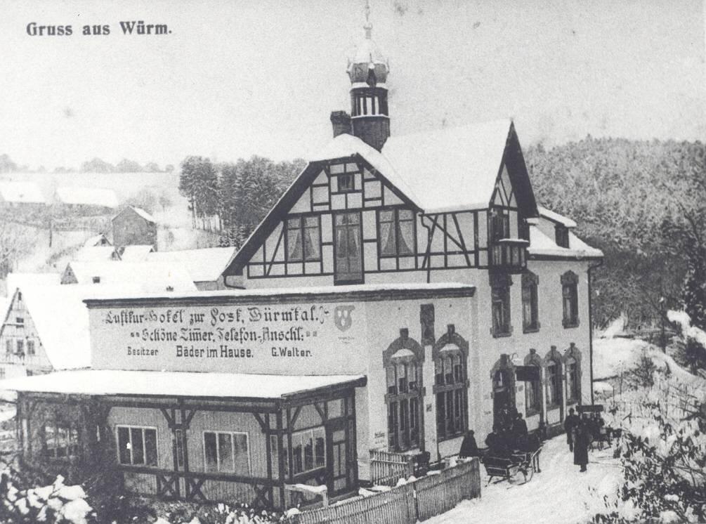 Kurhotel Post um ca. 1930